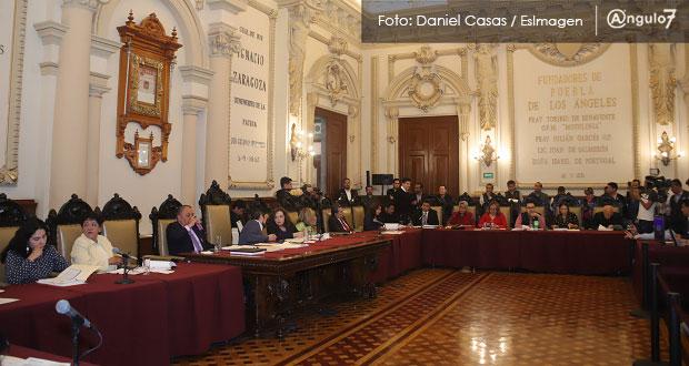 Ocho regidores de Morena, los más faltistas en Cabildo de Puebla en 2019