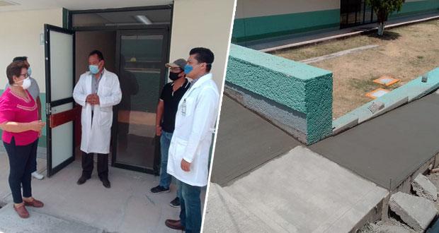 Revisan avance de acceso para área especial en IMSS de Tepexi