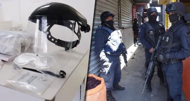 Comprará gobierno caretas para proteger a policías de contagios de Covid-19