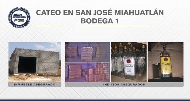 FGE de Puebla asegura más de 67 mil litros de alcohol adulterado