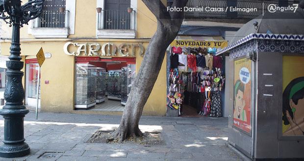 Solo 67% de comercios cierran en días solidarios en Puebla capital: Segom