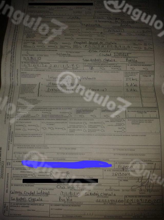 Sin prueba Covid-19, lo internan en Hospital de Cholula, donde muere, acusan