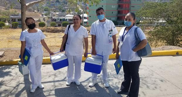 Inicia primera jornada de vacunación en Tecomatlán
