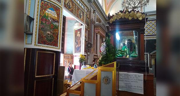Pandemia paraliza iglesias en Puebla; cierran en Viernes Santo