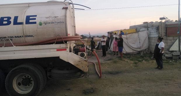 Con ayuda de Antorcha, llega agua a familias del norte de la ciudad