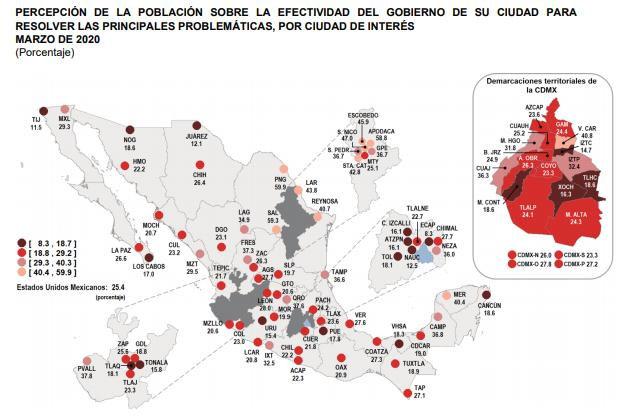 Apenas 17% en Puebla capital percibe efectiva labor del ayuntamiento: Inegi