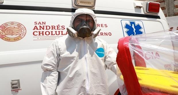 Comuna de San Andrés Cholula equipa a personal de Protección Civil