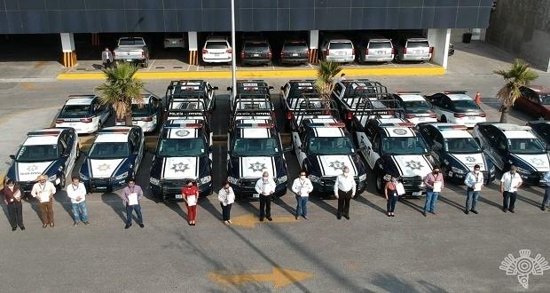 Entrega SSP patrullas a 16 municipios
