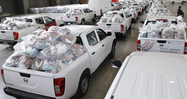 El lunes, iniciará entrega de despensas al interior del estado