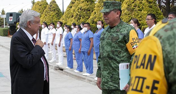Ejército recibirá a enfermos de Covid-19 en 3 regimientos de Puebla y Atlixco