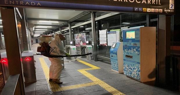 Sanitizan estaciones y terminales de las 3 Líneas de Ruta