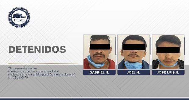 FGE Puebla rescató a víctima y detuvo a 3 presuntos secuestradores