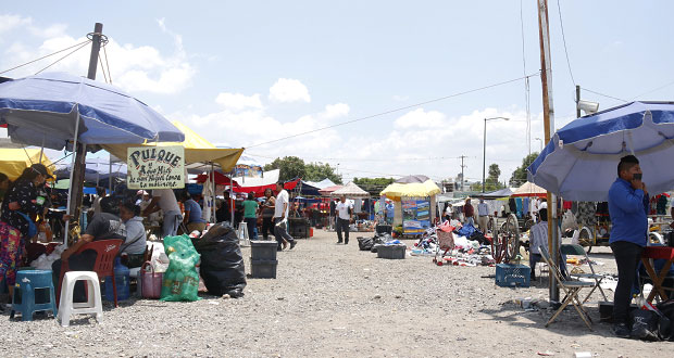 En tianguis de San Isidro, laboran con medidas de sanidad: Antorcha