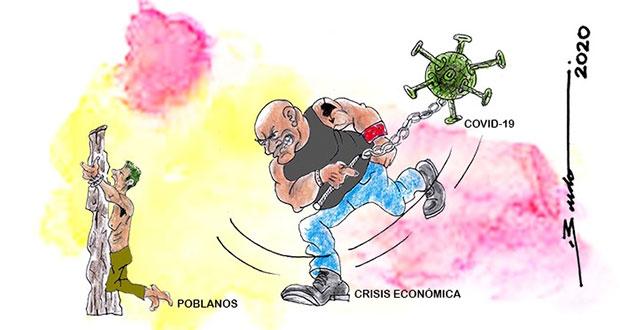 Caricatura: Coronavirus y crisis, los azotes contra los poblanos