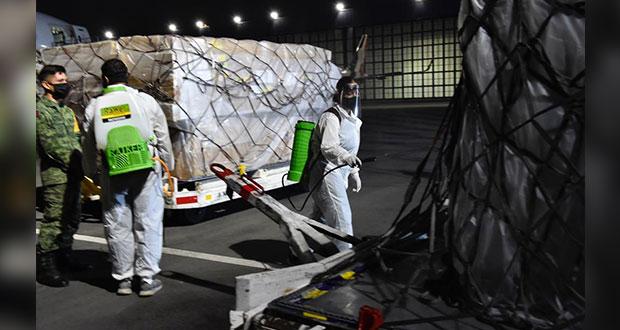 Llegan 200 ventiladores Covid-19 y equipo médico de China