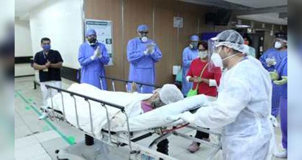 Mujer de 65 años vence Covid-19 con transfusión de plasma en IMSS