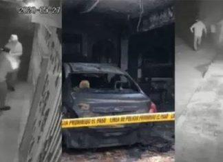 Sujetos queman auto dentro de casa de enfermera en Yucatán