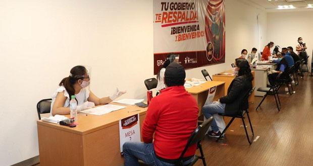 Inicia entrega de apoyos de 3,500 pesos por desempleo en Puebla