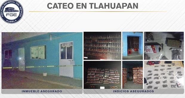Aseguran droga en Tlahuapan