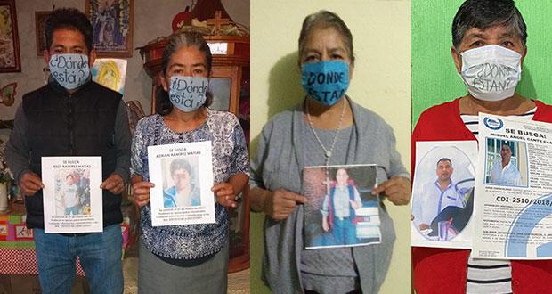 """""""10 de mayo, de lucha y de protesta"""": madres de desaparecidos en Puebla. Foto: Facebook / DESAPARECIDOSPUEBLA"""