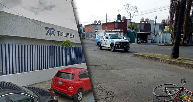 En Bosques de Amalucan, empleado de Telmex atropella a ciclista y se fuga