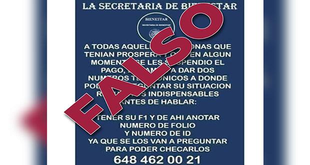 ¡Cuida tu información! Circula falso aviso para exbecarios de Prospera