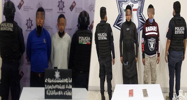 Detienen a seis narcomenudistas en Zacatlán. Tehuacán y Puebla