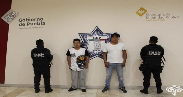 Detienen SSP a dos presuntos narcomenudistas en San Baltazar