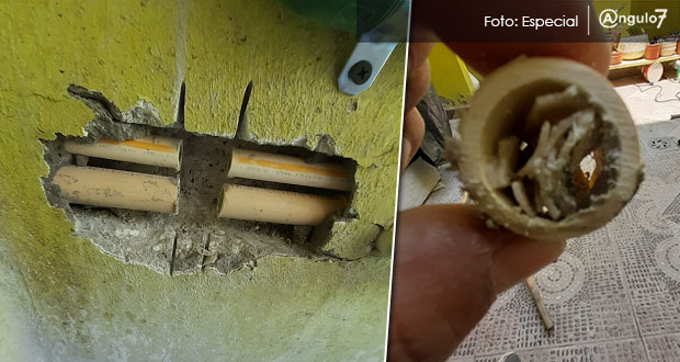Acusan sarro en tuberías de Santa Catarina causado por Agua de Puebla