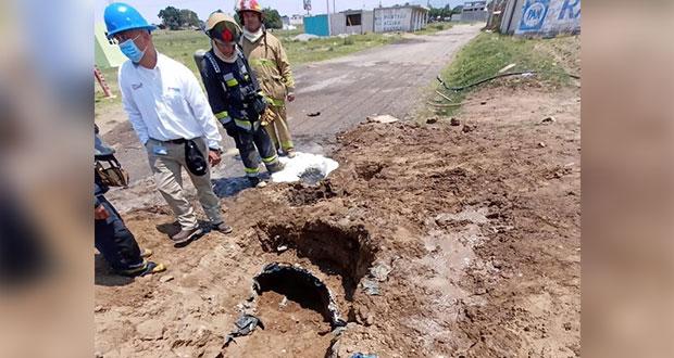 Tras 11 horas, sellan fuga de gas LP en Amozoc