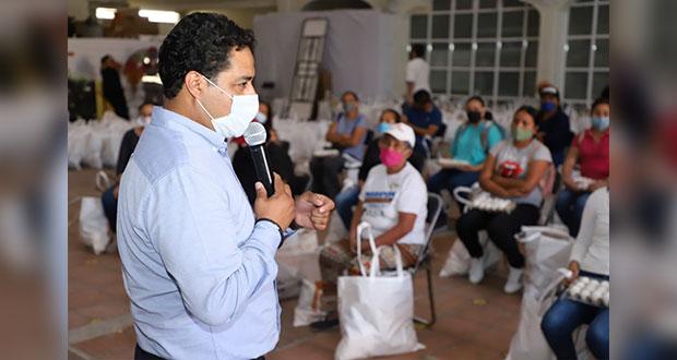 """San Andrés entrega 175 despensas de programa """"Valores a tu mesa"""""""
