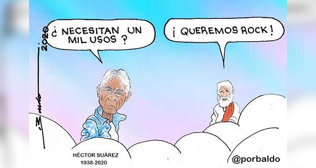 Caricatura: En el cielo, querían rock