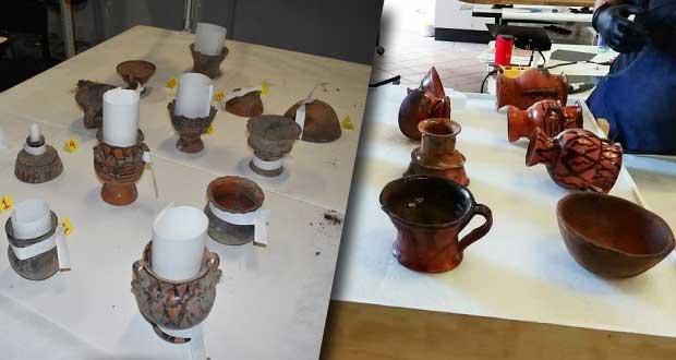 Secretaría de Cultura restaura 13 piezas de arte de Ixtacamaxtitlán