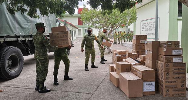 Ejército ha transportado 3,567 toneladas de equipo e insumos médicos