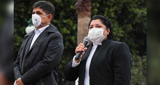 Exhorta Karina Pérez reforzar medidas sanitarias durante la pandemia