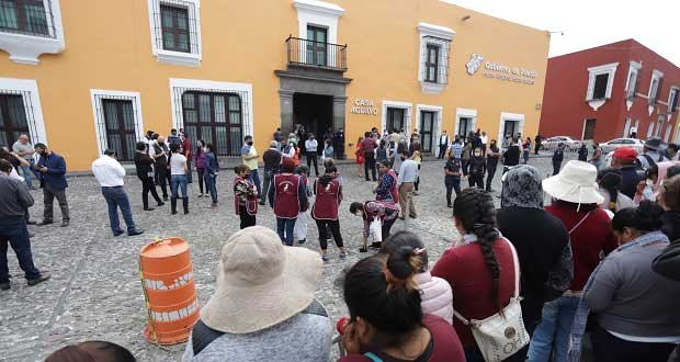 Habitantes de Canoa se manifiestan; piden fertilizantes y empleos