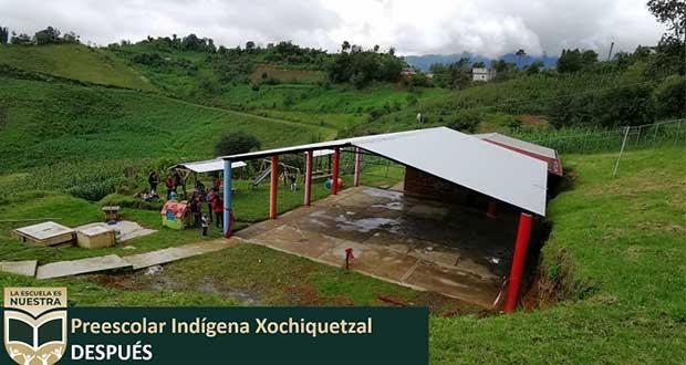 """""""La Escuela es Nuestra"""" llega a Quimixtlán; remodelan 6 planteles"""