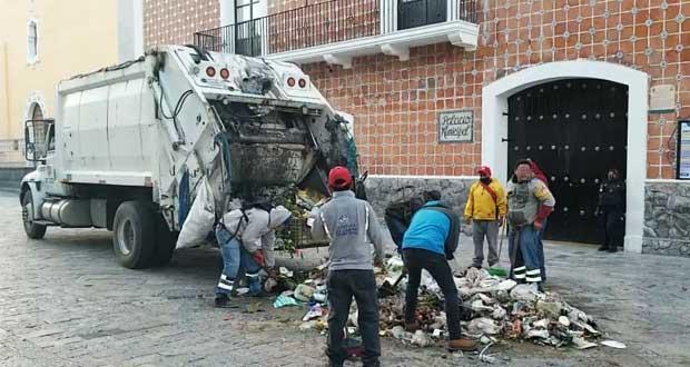 Tras protesta, Atlixco separa a supervisores de limpia, pero no a titular. Foto: EsImagen