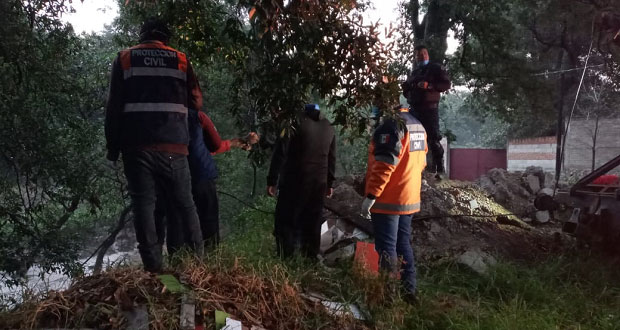 Segob estatal atiende contingencias por lluvias en Amozoc y Chietla