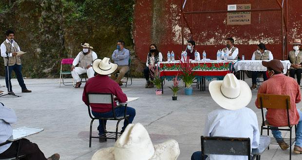 Gobierno federal lleva Sembrando Vida a campesinos de Chiconcuautla