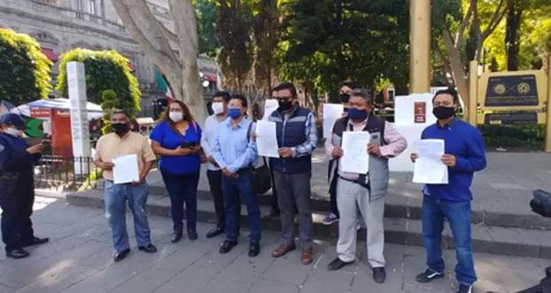 En Tlaxcalancingo, piden a Karina Pérez apoyo con más seguridad