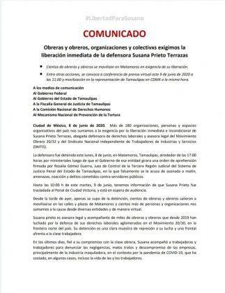 Captura de Prieto es represión por denunciar a maquilas: ONGs