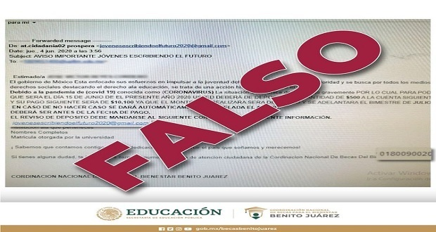 ¡No caigas! Siguen intentos de fraude con falsas becas del gobierno