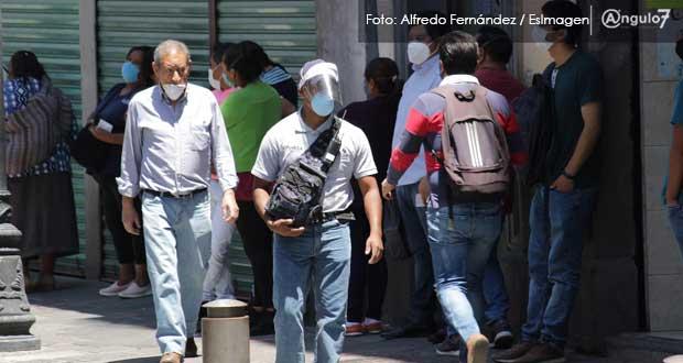 Contagios de Covid-19 no dan tregua en Puebla y suma 364 nuevos casos