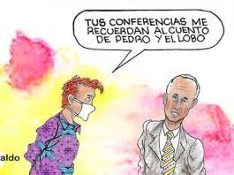 Caricatura: López-Gatell y el lobo coronavirus