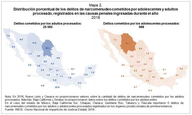 Puebla, con baja incidencia en delitos de narcóticos en 2018: Inegi