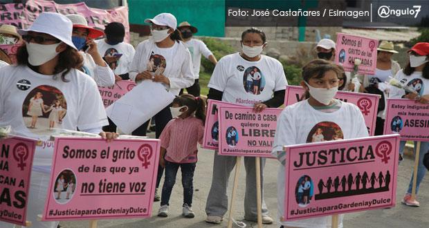En marcha y con altar, exigen justicia por el feminicidio de Gardenia y Dulce
