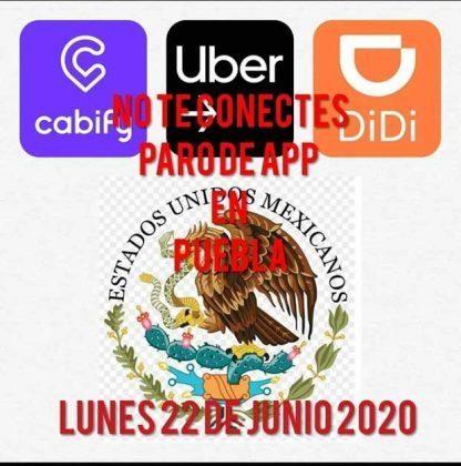 Choferes de Uber en Puebla convocan a paro por cobro de impuesto