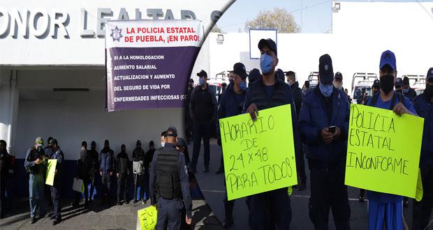Comuna de Puebla niega injerencia en paro de Policía Estatal