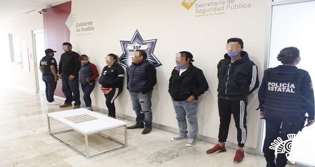Detienen a banda de narcomenudistas que roban en transporte público